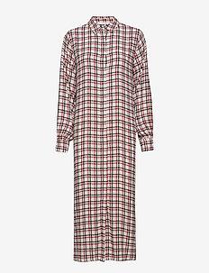 Genova dress SO19 - RED/PINK/WHITE CHECK