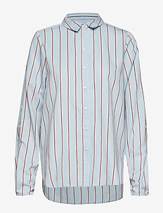 Chemise shirt SO19 - langærmede skjorter - light blue with stripes