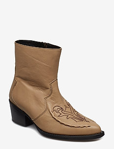 Emelia boots MS19 - ankle boots with heel - sesame