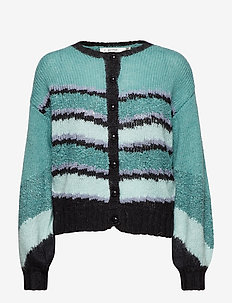 Abila cardigan MS19 - cardigans - oil blue mix
