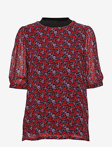 Rosanna ss top MS19 - kortærmede bluser - small red rose