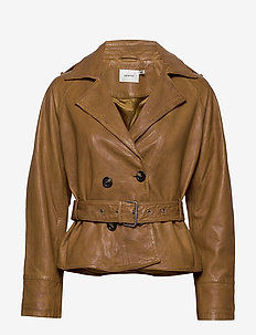 Volitta jacket MS19 - skinnjackor - bone brown