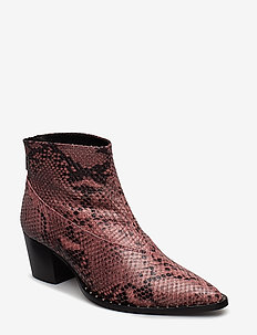 Ava boots MS19 - ankle boots with heel - snake as cut