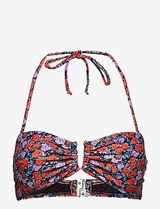 Canta bikini top MS19 - SMALL RED ROSE