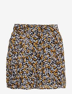 GeorginaGZ shorts HS19 - BLACK LEAVES