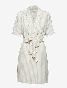 AgaGZ blazer dress HS19 - WHITE W. BLACK STRIPE
