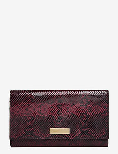BobbieGZ clutch AO19 - BORDEAUX SNAKE