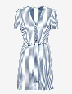 KitiaGZ dress AO19 - WHITE W. BLUE STRIPES