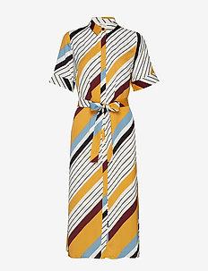 DianonaGZ dress AO19 - DIAGONAL YELLOW STRIPE