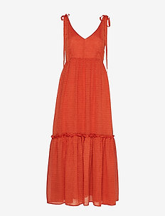 LonaGZ long dress AO19 - midi kjoler - rooibos tea