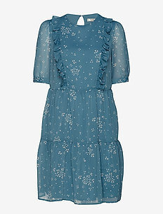 CindyGZ short dress - BLUE CLOVER HEART