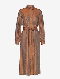 MorganaGZ long dress AO19 - robes chemises - rooibos tea jaquard