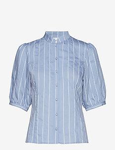 TuanGZ blouse ZE2 19 - BLUE/WHITE STRIPES