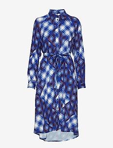 LuanneGZ OZ shirt dress MA19 - robes chemises - blue check