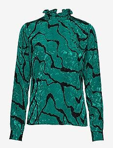 AylinGZ blouse MA19 - long sleeved blouses - green ripple