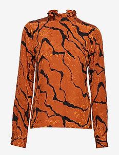 AylinGZ blouse MA19 - langærmede bluser - umber ripple