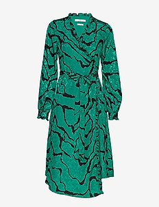 AylinGZ wrap dress MA19 - GREEN RIPPLE