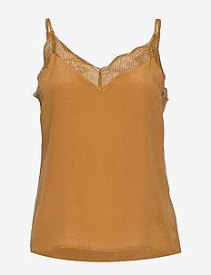 MalviaGZ singlet - sleeveless blouses - bone brown