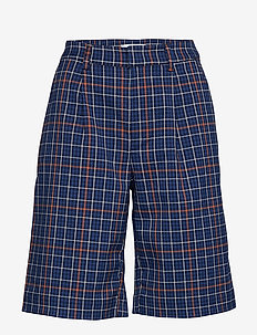NiraGZ shorts MA19 - bermudy - blue/umber check