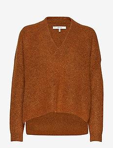 BrendaGZ v-pullover MA19 - truien - umber melange