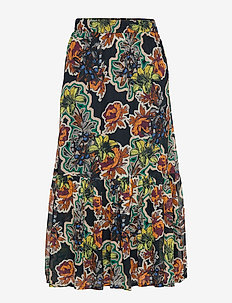 FloritaGZ skirt MA19 - BLACK GRAFITI FLOWER