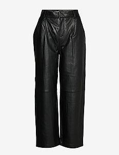 AliahGZ culotte - spodnie skórzane - black