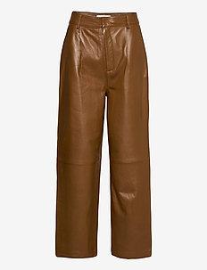 AliahGZ culotte - spodnie skórzane - rubber
