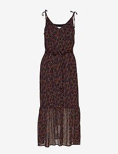 AlminaGZ long dress MA19 - sommerkjoler - black multi dot