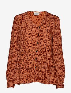 SpotiaGZ blouse MA19 - long sleeved blouses - umber dot