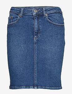 AstridGZ skirt MA19 - farkkuhameet - denim blue
