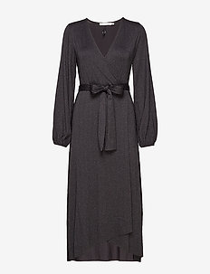 JustaGZ wrap dress YE19 - wikkel jurken - black