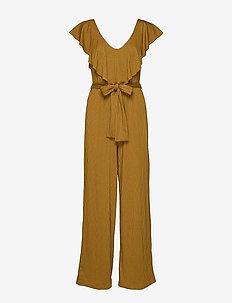 JustaGZ jumpsuit YE19 - buksedragter - bone brown