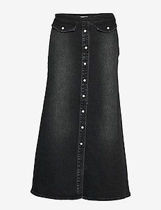 AstridGZ long skirt - jeansröcke - washed black