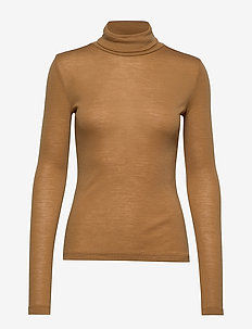 WilmaGZ rollneck - basic t-shirts - bone brown