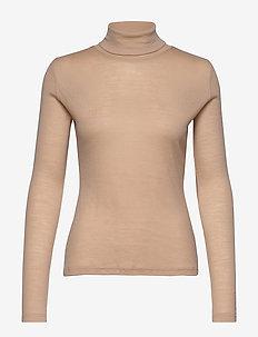 WilmaGZ rollneck - basic t-shirts - safari