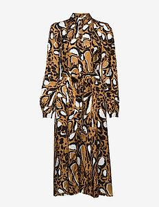 LoriGZ dress SO20 - skjortekjoler - brown leo