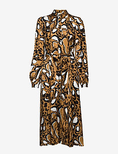 LoriGZ dress SO20 - robes chemises - brown leo