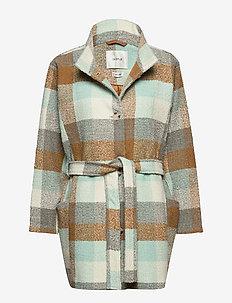 AnayaGZ OZ coat SO20 - manteaux en laine - iced blue/brown check