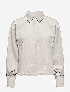 Sort Blomstrete Cally Skjorte fra Gestuz Skjorter