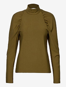 RifaGZ turtleneck - long sleeved blouses - dark olive
