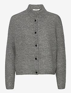 DebbieGZ short cardigan NOOS - cardigans - high-rise grey melange