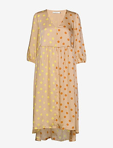 EvelinaGZ dress M20 - midi jurken - yellow dot