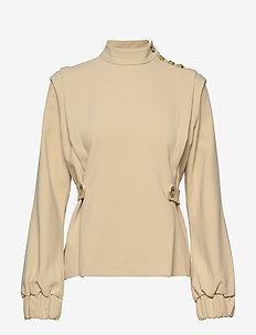 ReemGZ blouse MS20 - blouses med lange mouwen - safari