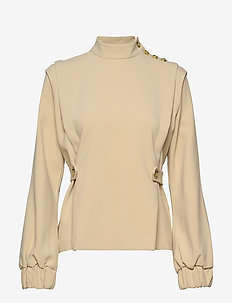 ReemGZ blouse MS20 - long sleeved blouses - safari