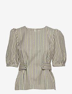 ElionaGZ blouse MS20 - blouses med korte mouwen - lime light check