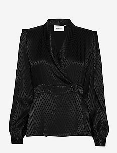 LynnGZ blouse MS20 - long sleeved blouses - black