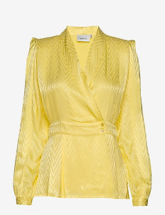 LynnGZ blouse MS20 - long sleeved blouses - limelight