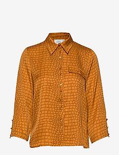 TabbyGZ shirt MS20 - blouses med lange mouwen - golden oak