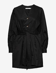 AlvaGZ v-long shirt MS20 - robes chemises - black