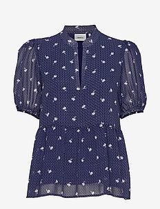 KailaGZ blouse HS20 - blouses med korte mouwen - navy flower dot